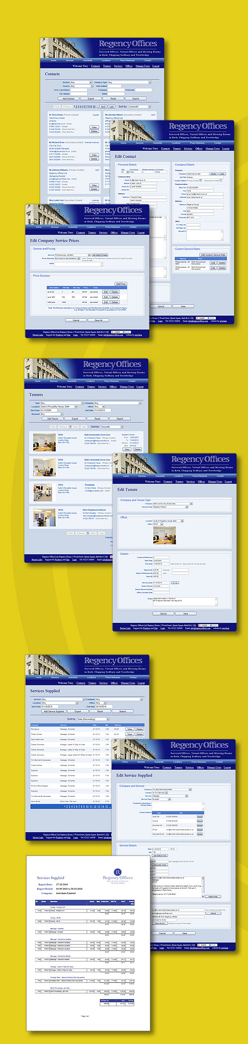 Regency Offices - Office Management System - designed by Intechnia