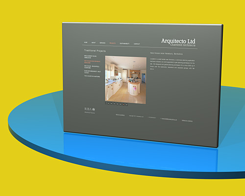 Arquitecto Architects website - designed by Intechnia
