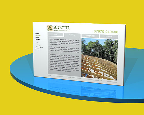Aecern Structures website designed by Intechnia