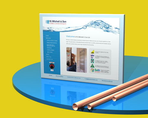RJ Mitchell & Son website designed by Intechnia