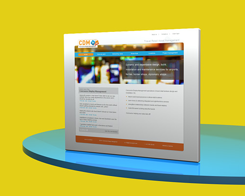 Concourse Display Management website designed by Intechnia