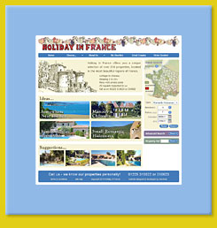 Web design for Holiday in France, Bath